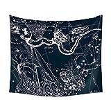 N/ A Viento Nacional constelación Cielo Estrellado Tapiz Multifuncional Sentado Manta Colgando de la Pared Toalla de Playa
