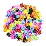 100 Pezzi Mini artiglio dei capelli della clip in plastica, Claw Pin Fermagli Multicolore per Ragazze e Donne
