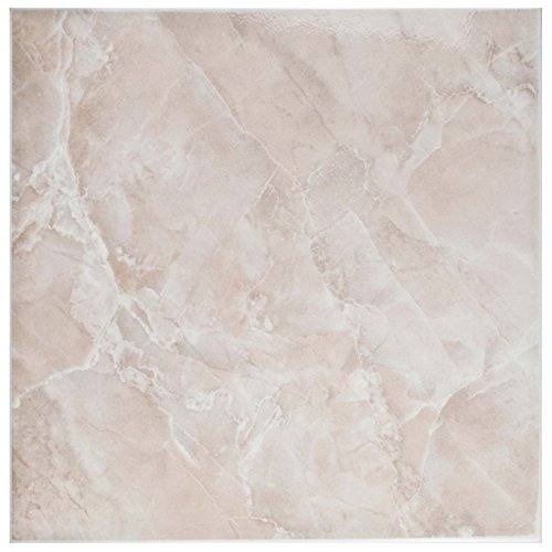 """SomerTile FTC12GRS Sigma Ceramic Floor and Wall Tile, 11.75"""" x 11.75"""", Red/Pink"""