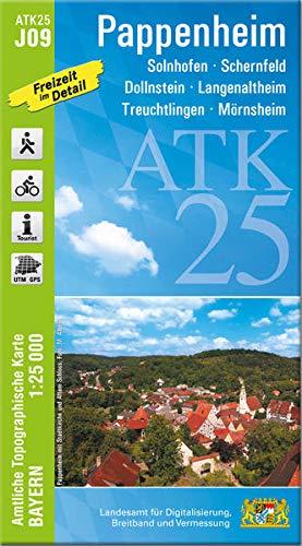 ATK25-J09 Pappenheim (Amtliche Topographische Karte 1:25000): Treuchtlingen, Schernfeld, Dollnstein, Langenaltheim, Solnhofen, Mörnsheim (ATK25 Amtliche Topographische Karte 1:25000 Bayern)