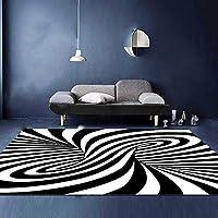 ファッション3Dスパイラルカーペットラグポリエステルふわふわ滑り止めラグ長方形フロアマットリビングルーム家の装飾,80*120cm