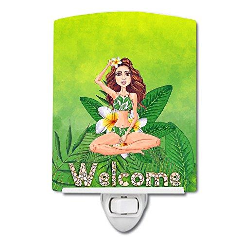 Caroline Tesoros de la Bienvenida Lady en Bikini Verano luz Nocturna de cerámica, 6x 4,'Multicolor