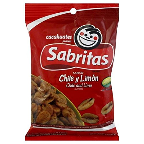 Sabritas Chile and Lime Peanuts, 7-ounce