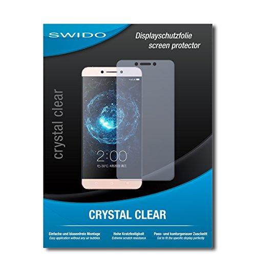 SWIDO Schutzfolie für LeEco Le 2 Pro [2 Stück] Kristall-Klar, Hoher Festigkeitgrad, Schutz vor Öl, Staub & Kratzer/Glasfolie, Bildschirmschutz, Bildschirmschutzfolie, Panzerglas-Folie
