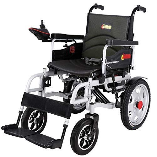 Inicio Accesorios Ancianos Discapacitados Silla de ruedas eléctrica para trabajo pesado Silla de ruedas eléctrica plegable y liviana Ancho del asiento 45Cm 360 grados Joystick Capacidad de peso 150
