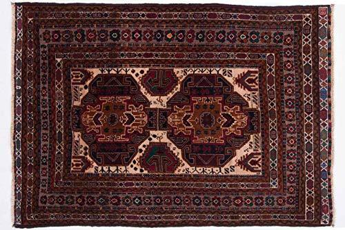 Beloutsch 180x130 cm Handgeknüpfter Teppich aus Afghanistan Orient 120 x 180