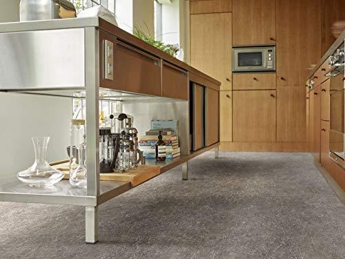 PVC Bodenbelag in markantem Beton (8,95€/m²), kleines Muster