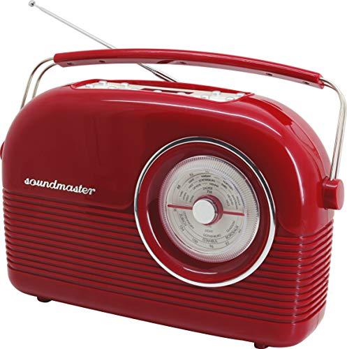 Soundmaster DAB450RO DAB+ UKW Retro Radio Festsenderspeicher Wecker Dualalarm Kopfhöhreranschluss