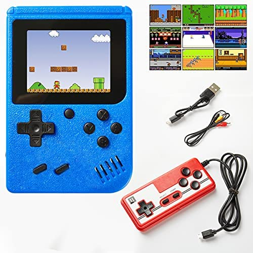 Mavss Handheld Retro Game Console - 400 in 1 Classical FC Games, Support for Connecting TV & Two Players,Portable 3.0-Inch Screen Video Game for Adults & Kids 8-12 Retro Toys (Red)