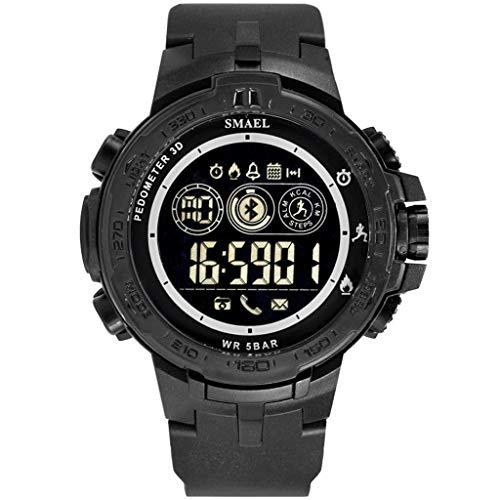 Chenang Bluetooth Sportuhr,Uhren für Damen Herren,Sport Armband für Damen Kinder Herren,Herrenuhr-Stil Digitaluhren, Uhr Anruf Kalorie Sportuhr
