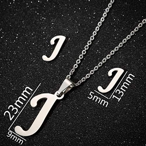 Lindos Collares de Navidad Divertido Delicado Nombre Inicial Letra K Gargantilla Colgantes de Cadena para Mujeres niños Collar Collier 45cm