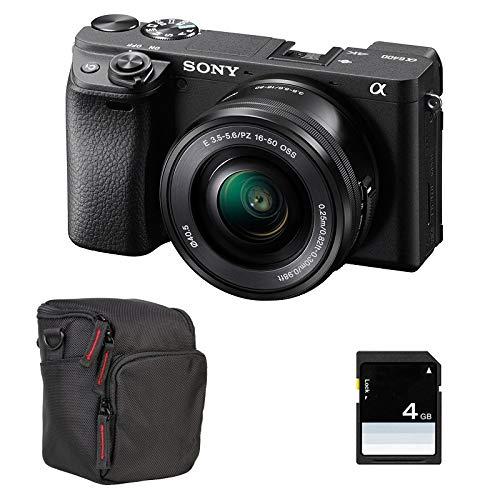 SONY Alpha 6400 Noir + 16-50 + FT + SD