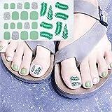 YANLIN Pegatina de uñas Pegatinas De Uñas De Los Pies Mezcla Diseño De Uñas Adhesivo Cubierta Completa Estilo De Verano Nuevos Accesorios Nail Art Manicure Decals, D35