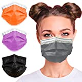 3-Ply Breathable Disposable Face Mask (Graphite Gray) - Made in USA - Comfortable Elastic Ear Loop   Non-Woven Polypropylene   Block Dust & Air Pollution   For Business and Personal Care (50pcs)