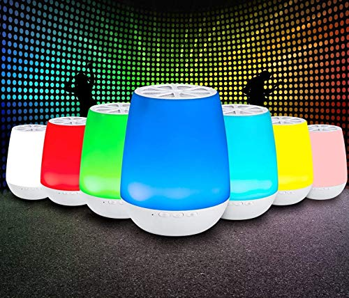 Lumasound Bluetooth - Speaker with LED Lights - Rechargeable - Portable - 1600 LED Light Colors - Smart Phone Controlled - Wireless