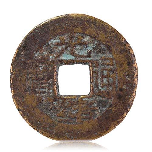 Alte chinesische alte Münzen, Qing-Dynastie antike Kupfermünzen, Bronzeplatten, Guangxu Tongbao - Baoyun Amulett bannen böse Geister Geld Reichtum Vermögen Zeichnung