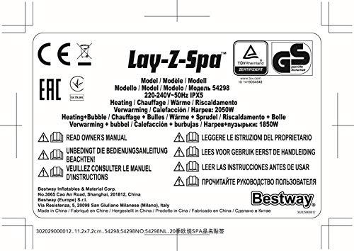 Bestway Lay-Z-Spa Helsinki AirJet - 35