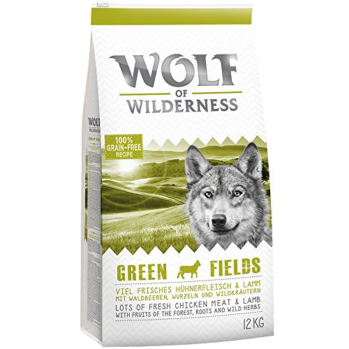 Wolf of Wilderness Adult Green Fields - Lamm- 12 kg