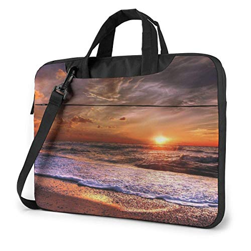 Beach Sunrise Unisex Laptop Bag Messenger Shoulder Bag For Computer Briefcase Carrying Sleeve