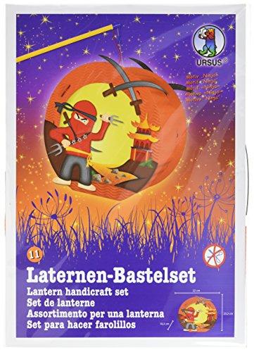 Ursus 18710011 - Laternen Bastelset Easy Line, Ninja, ca. 21,8 x 21 x 10,3 cm, Set zum Basteln einer Laterne, inklusive Schritt für Schritt Anleitung, ideal für den nächsten Laternenlauf