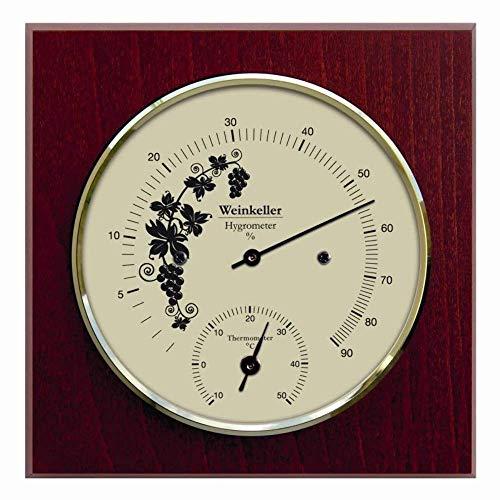 Fischer, Termometro e igrometro per cantina da vino, con cassa in legno