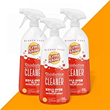 Lemi Shine Multi-Surface Antibacterial Spray, Disinfecting Spray, Kills 99.9% of Germs, Bleach-Free (Fresh Lemon Scent, 28 oz, 3 Pack)