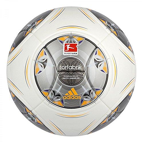 adidas Fußball Torfabrik 2013 DFL 13 Junior 290g, Wht/Silver/Zest/Mtsi, 5, D83653