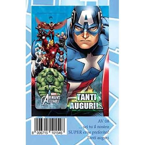 Avengers - Biglietto D'Auguri con Segnalibro Capitan America