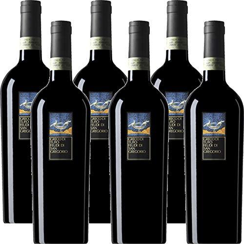 Greco di Tufo DOCG | Feudi di San Gregorio | Vino Bianco della Campania | 6 Bottiglie 75 cl | Idea Regalo