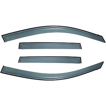 4 Pcs Set Compatible With 2007-2010 Hyundai Elantra Tuningpros LWD2-253 Outside Mount Window Visor Deflector Rain Guard Light Grey