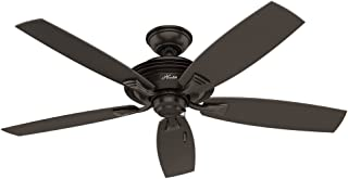 Hunter Indoor / Outdoor Ceiling Fan, with pull chain control - Rainsford 52 inch, Premier Bronze, 53347