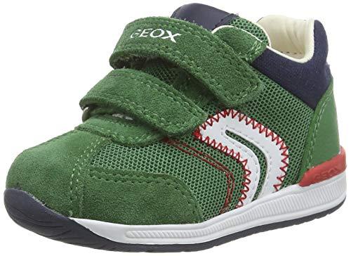Geox B RISHON Boy B, Sneakers Basses, Vert (Green C3000), 22 EU