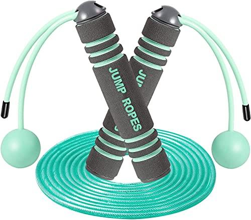 MUGUTAK Springseil,Verstellbare Speed Rope,Seilspringen mit Profi Kugellager & Anti-Rutsch Griffe,für Training, Fitness, Jump Rope ohne seil für Kinder und Erwachsene (Grün)