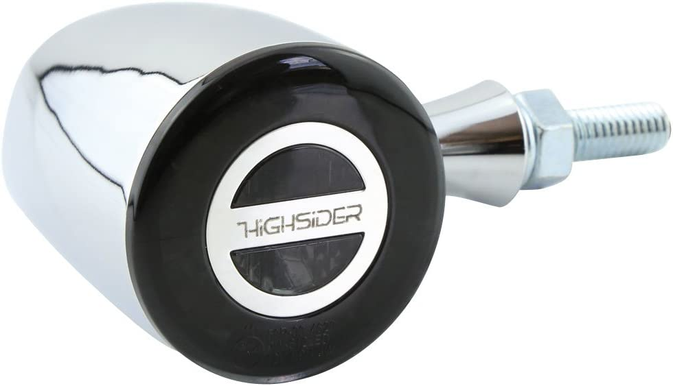 Highsider Rocket Classic Led Rear Light Brake Light Indicator Unit E Approved Pack Of 2 Chrome Auto