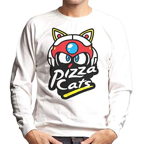 Cloud City 7 Samurai Pizza Cats Pizza Hut Logo Men's Sweatshirt