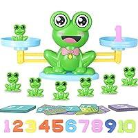 Hiveseen Montessori 64 Teile Mathe Waage Spielzeug, Lernspielzeug für Zählen und Rechnen, STEM Spielzeug, Frosch Balance Mathe Spiel für Kinder ab 5+ Jahre