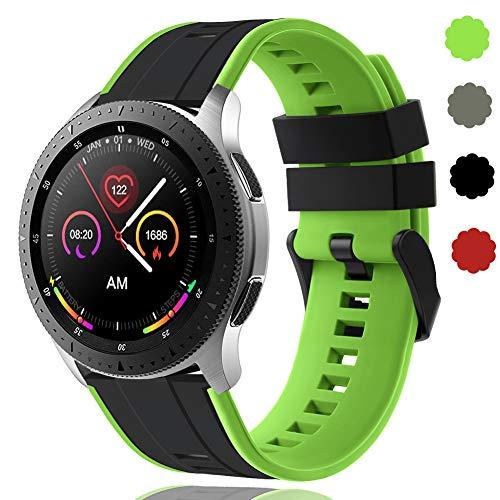 Correa de 22 mm de liberación rápida compatible con Samsung Galaxy Watch 46 mm/Huawei Watch GT 2/Samsung Gear S3 Classic/Samsung S3 Frontier de silicona para hombre Wowen DE91004 (#3)