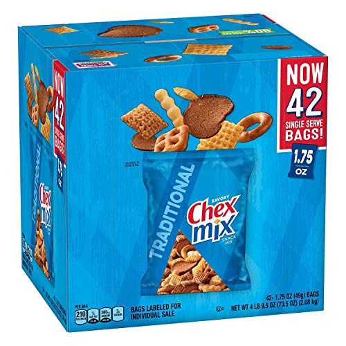 Chex Mix Traditional Savory Snack Mix,1.75 Ounce (Pack of 42)