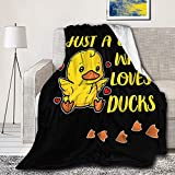 Microfiber Flannel Throw Blanket Just A Girl Who Loves Ducks Super Soft Cozy Lightweight Summer Quilt Perfect for Bed Sofa-50'x40' Small for Kids