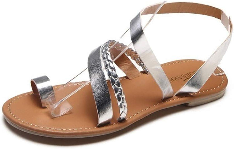 Womens Flip Flop PU Sandals Ladies Sparkly Toe Post Holiday Beach Slider