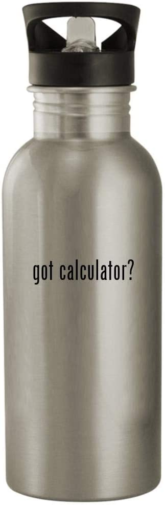 got calculator? - Popularity 20oz Stainless Sil New York Mall Bottle Water Outdoor Steel