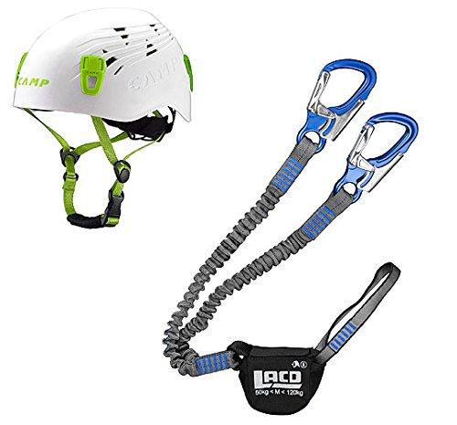 LACD Klettersteigset Pro Evo + Kletter-Helm Camp Titan White 54-62cm