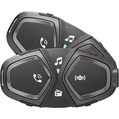 INTERPHONE INTERPHOACTIVETP Bluetooth Auriculares Manos Libres para Casco Moto Dual, Negro