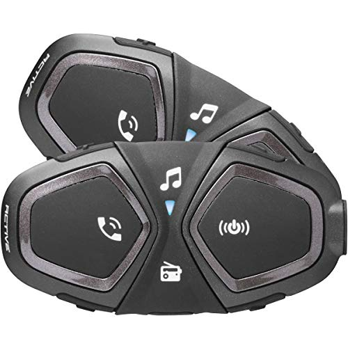 INTERPHONE INTERPHOACTIVETP Bluetooth Auriculares Manos Libres para Casco Moto Dual, Negro