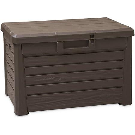 Toomax Art. 158 Compact Box Florida Malle de Rangement Résine Marron 73 x 50,5 x 46,5 cm