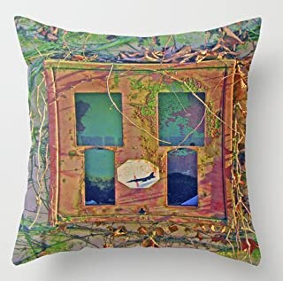 Unique Style Retro 70S Bubble Gum Box Stop Pershing Throw Pillow Cover Home Decorative Throw Pillowcase Square Zip Cover 18x18 Inch