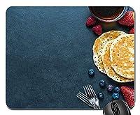 パンケーキティーストロベリーブルーベリーカスタマイズマウスパッドファッション長方形マウスパッドファッションゲーミングマウスマット