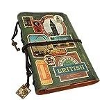NectaRoy Rétro Vintage Cuir Journal Agenda, Carnet de notes Rechargeable avec Séparation,...