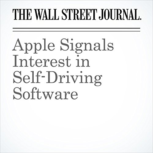 Apple Signals Interest in Self-Driving Software cover art