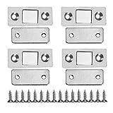 Zerodis - 4pcs Cierres magnéticos de puerta fuertes y ultrafinos con tornillos para muebles y armarios